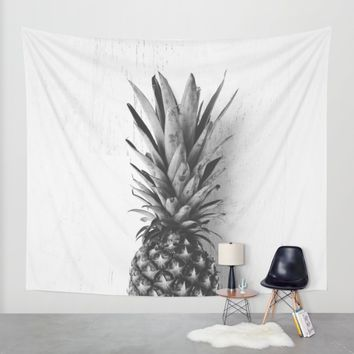 Black and white pineapple Wall Tapestry by Allyson Johnson | Society6