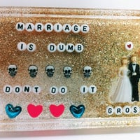 Weird Bathroom Art Marriage is Stupid Don't Do It by UglyBaby
