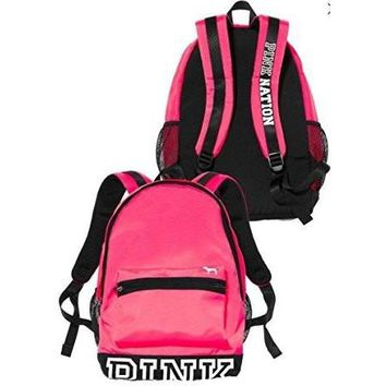Victoria's Secret PINK Campus Backpack Neon Hot Pink