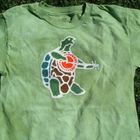 The Grateful Dead Terrapin Turtle Custom Kids Batik Tee Shirt Terrapin Station Inspired CUSTOM