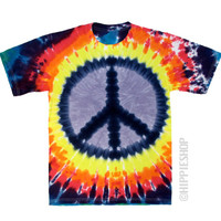 Peace Tie Dye T Shirt on Sale for $17.95 at HippieShop.com