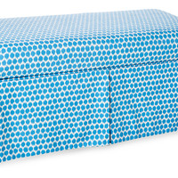 Paige Storage Bench, Blue