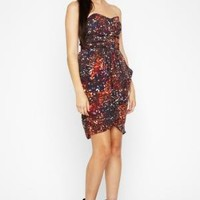 BCBGMAXAZRIA - SHOP BY CATEGORY: DRESSES: VIEW ALL: BCBGENERATION PLEATED TULIP DRESS