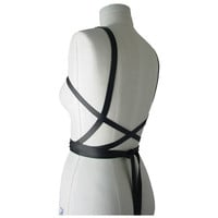 Leather wrap body harness