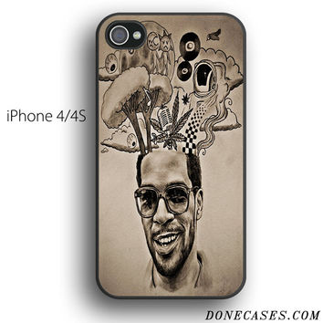 kid cudi tattoos case for iPhone 4[S]