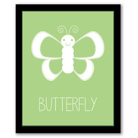 Butterfly Wall Art, Nursery Wall Art, Green Art, Kids Room, Baby Gift, Girls Room, Kids Wall Art, Girls Nursery, Playroom, INSTANT DOWNLOAD