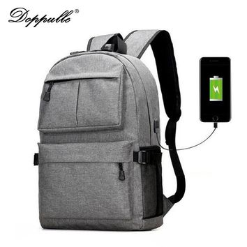 Tech Cell Phone and Tablet Charger USB External Laptop Backpack Canvas Rucksack