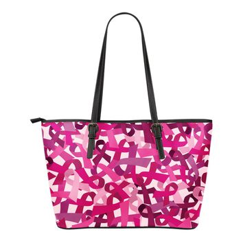 Breast Cancer Awareness Small Leather Bag