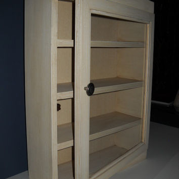 english style cabinet with 3 shelves