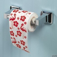 One Roll LUAU Flamingo 2-Ply Toilet Paper