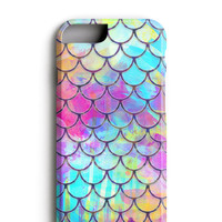 Watercolor Mermaid Scales iPhone 6 Case. iPhone 6s Case.