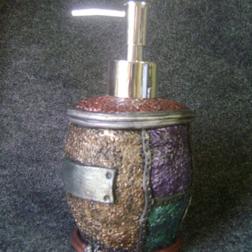 Soap Dispenser polymer clay industrial pump jewel tone metallics