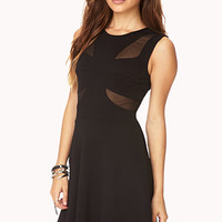 Posh Cutout Fit & Flare Dress