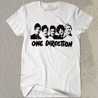 Hot One Direction Shirt The Band Symbol Printed on White t-Shirt For Men Or Women Size X 15