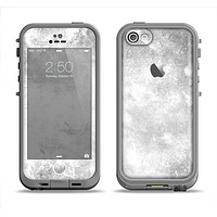 The White Cracked Rock Surface Apple iPhone 5c LifeProof Fre Case Skin Set