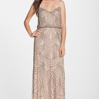 Adrianna Papell Beaded Chiffon Blouson Gown | Nordstrom