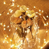 Lightshare™ Led String Lights 100 LED Warm White Color on 32ft Wire LED Starry Light with 6v Power Adapter for Home Decoration/Wedding/Birthday/Christmas/Holiday/Party Decoration:Amazon:Home & Kitchen