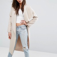 Missguided Duster Waterfall Coat at asos.com