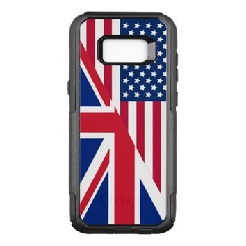 American and Union Jack Flag OtterBox Commuter Samsung Galaxy S8+ Case