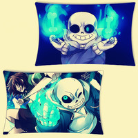 Anime undertale stickerbomb bed bath throw pillow case cover Design Luxury Printing Pillow Cover Rectangle Square Pillowcase
