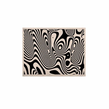 "Danny Ivan ""Trippy"" Black White KESS Naturals Canvas (Frame not Included)"