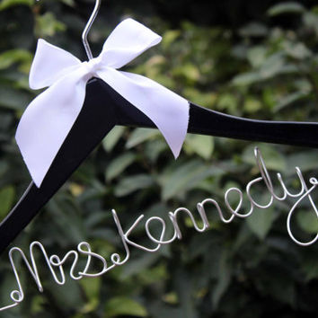 Wedding Hanger, Bride Name Personalized Custom Bridal Hanger, Bridesmaid Hanger Custom Bridal Hanger, Custom Bridal Hanger,