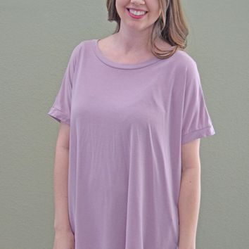 What I Like Solid Top: Light Mauve