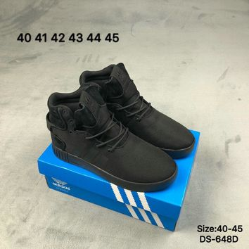 Adidas TUBULAR INVADER 750 High-Top Fashion Men Women Casual Skate Shoes White/Black 2 Colors