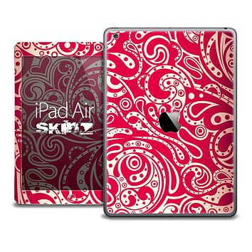 The Red Abstract Paisley Skin for the iPad Air