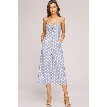 The Cutest Thing Polka Dot Jumpsuit (Blue)