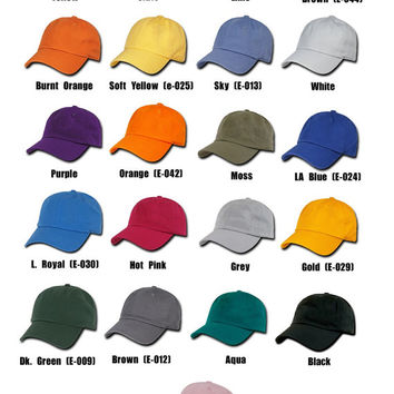 Embroidered Hats, 12 Hat Custom Embroidery Dads Hats with your logo or design