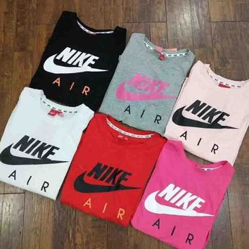 Nike Hot letters print T-shirt top 6-Color I-G-JGYF