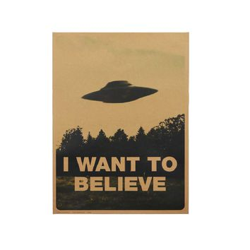 Vintage Classic Movie  I Want To Believe Poster