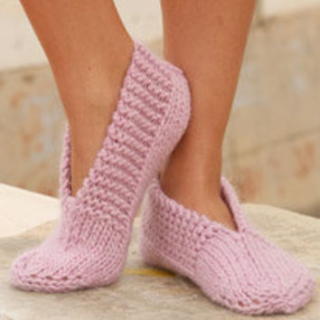 Women slippers. Hand knitted wool socks. Pink or pick your color. Handmade Mother's Day gift. Ladies home shoes.