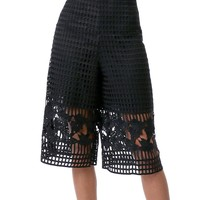 Space Out Lace Culottes Short - Black