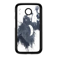 Wolf Song 3 Black Hard Plastic Case for Moto E by Balazs Solti