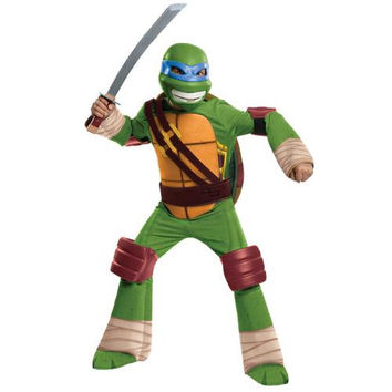 Girl's Costume: Teenage Ninja Mutant Turtles Leonardo Deluxe | Medium