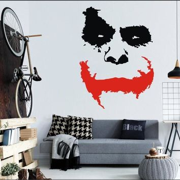 Batman Dark Knight gift Christmas Wall Decal Vinyl Sticker Joker Face Why So Serious Movie Batman: The Dark Knight Removable Mural Poster Decoration DIY WW-413 AT_71_6