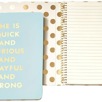 Kate Spade Spiral Notebook-Quick and Curious