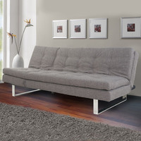 Dark Gray 3-Seat Fabric Sofa Bed