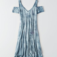 AEO Soft & Sexy Cold Shoulder Double-V Dress, Aqua