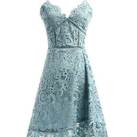 Blue Crochet Summer Dress With