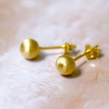 Gold Earrings,Gold Stud,Gold Stud Earring,Silver Stud,Stud Earrings,Silver Earring,Matt Silver,925 Sterling Silver,Bridesmaid earring