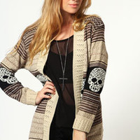 Ava Edge To Edge Skull Cardigan