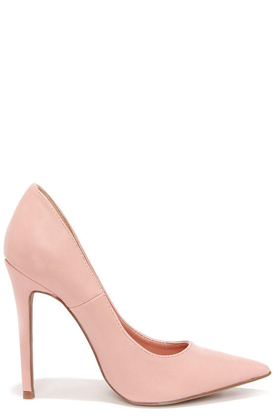 645d7d3bd313 Click Your Heels Blush Pink Pointed Pumps from Lulu s