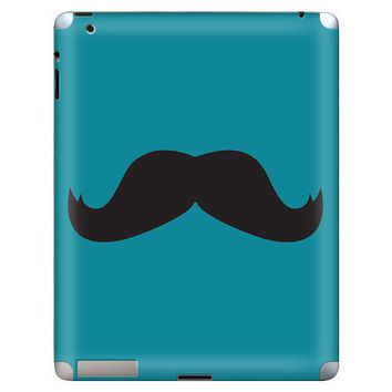 Mustache Apple iPad 2 Gel Skin Cover by stickitskins on Etsy