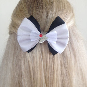 Paperman Wreck It Ralph Short Black and Gray Bow Medium Sized, Paper Airplane Love by Design Bowtique