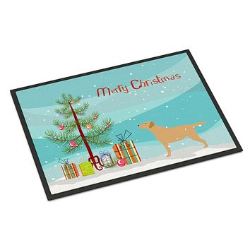 Yellow Labrador Retriever Merry Christmas Tree Indoor or Outdoor Mat 24x36 BB2915JMAT