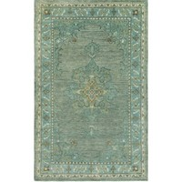 Hara Teal Hand Knotted Wool Rug