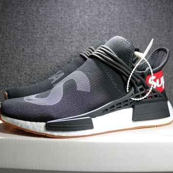 Best Online Sale Supreme x Pharrell Williams  x Adidas PW HU Human Race NMD Hu Boost Sport Running Shoes Classic Casual Shoes Sneakers